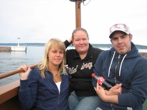 Joanna, jag och Magnus